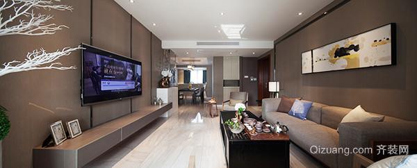 84平米现代风格棕色系公寓装修效果图赏析