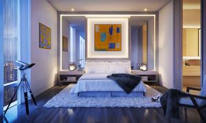 现代风格精致时尚卧室装修效果图欣赏