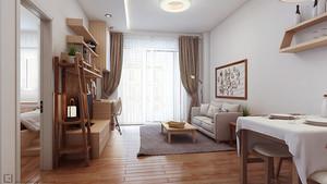 72平米新中式风格一居室装修效果图赏析