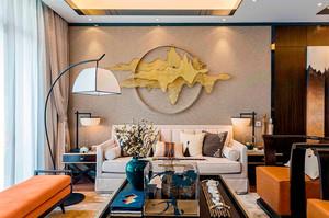 80平米中式风格典雅精致室内装修效果图案例
