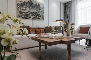 中式风格古韵精致客厅背景墙装修效果图赏析