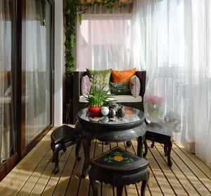 中式风格古典精致阳台装修效果图赏析