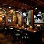 100平米复古风格创意酒吧装修效果图赏析