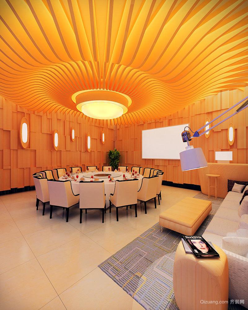 现代风格五星级酒店包厢吊顶装修效果图