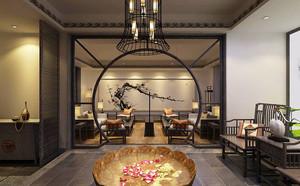 中式风格古典雅致茶楼装修效果图