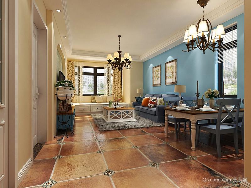 105平米地中海风格精致三室两厅室内装修效果图赏析