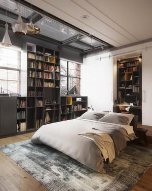 后现代风格工业风卧室装修效果图大全