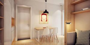 62平米简约风格舒适一居室小户型装修效果图