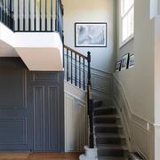 美式风格别墅精致楼梯设计装修效果图