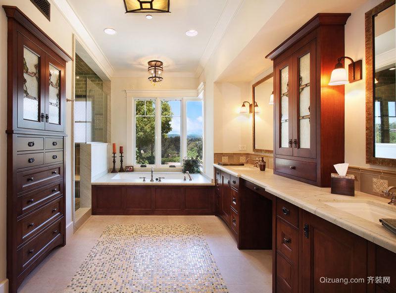 美式风格别墅复古豪华卫生间装修效果图赏析