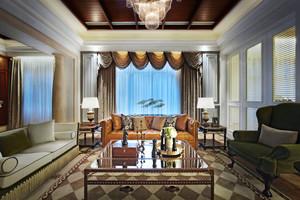 300平米欧式风格典雅大气别墅室内装修效果图赏析