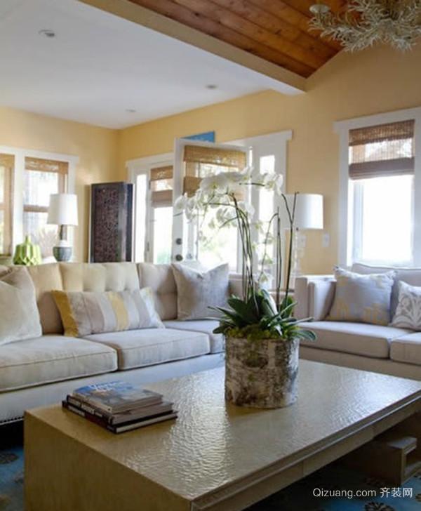 田园风格自然轻松大户型室内装修效果图案例