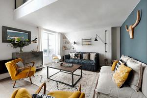87平米现代风格时尚loft公寓装修效果图鉴赏
