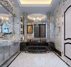 新古典主义风格别墅室内卫生间装修效果图赏析