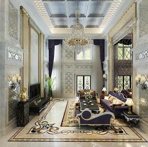 400平米新古典主义风格精致别墅室内装修效果图赏析