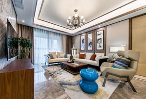 新中式风格大户型精致客厅装修效果图赏析