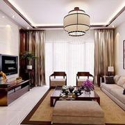 中式风格古典精致客厅装修效果图欣赏