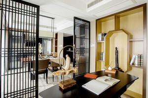 中式风格古典精致书房隔断装修效果图赏析