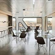 现代风格大型办公室吧台装修效果图