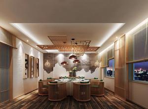 中式风格餐厅包厢设计装修效果图