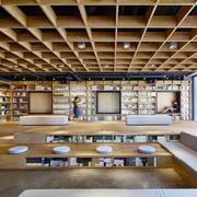 160平米现代风格大型书店装修效果图赏析