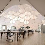 现代风格时尚创意办公室吊顶装修效果图