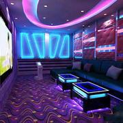 现代简约风格KTV包房环境装修效果图