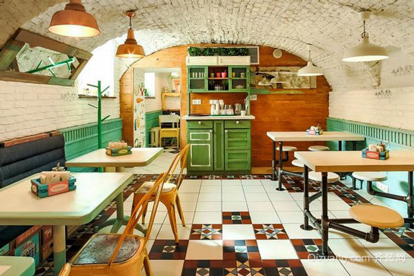 田园风格清新小餐厅装修效果图