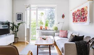 北欧风格简约文艺一居室小户型装修效果图案例