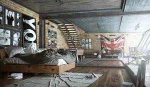 后现代时尚酷炫工业风卧室装修效果图大全