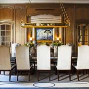 古典欧式风格别墅精致餐厅装修效果图