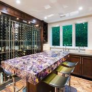 后现代风格低调奢华别墅酒柜设计装修效果图
