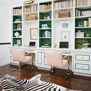 简欧风格轻松活力书房设计装修效果图赏析