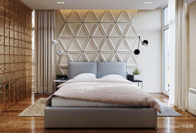 简欧风格浅色精致卧室背景墙装修效果图赏析