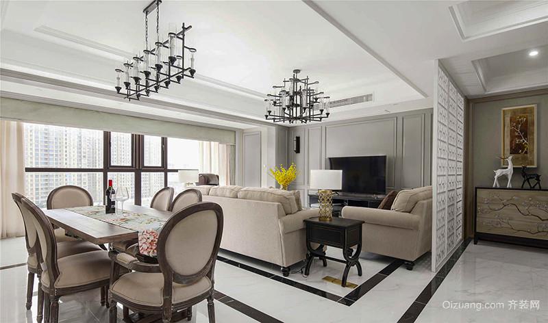 120平米简约美式风格室内装修效果图欣赏