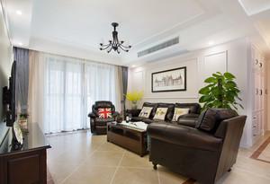 116平米美式风格精美精装三室两厅装修效果图