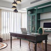 美式风格小清新书房设计装修效果图赏析