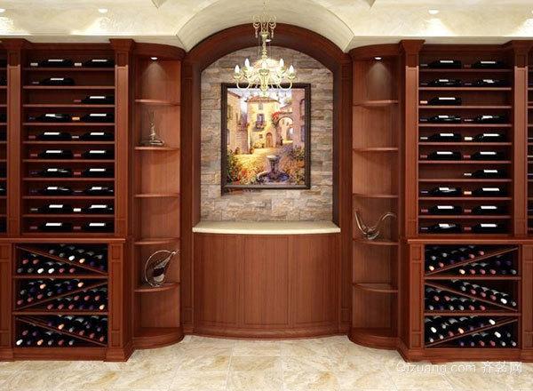 欧式风格别墅古典精致酒柜设计装修效果图