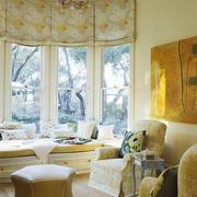 欧式风格别墅暖色调飘窗设计装修效果图