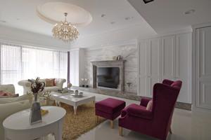 欧式风格典雅唯美大户型室内装修效果图案例