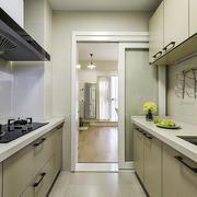 现代简约风格一字型厨房装修效果图赏析