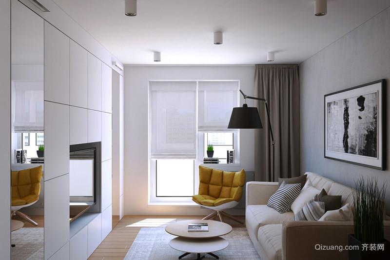 61平米现代风格时尚创意单身公寓装修效果图案例