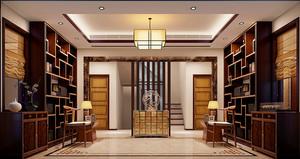 新中式风格精致古典别墅室内装修效果图案例