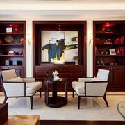 新中式风格古典精致书房装修效果图赏析