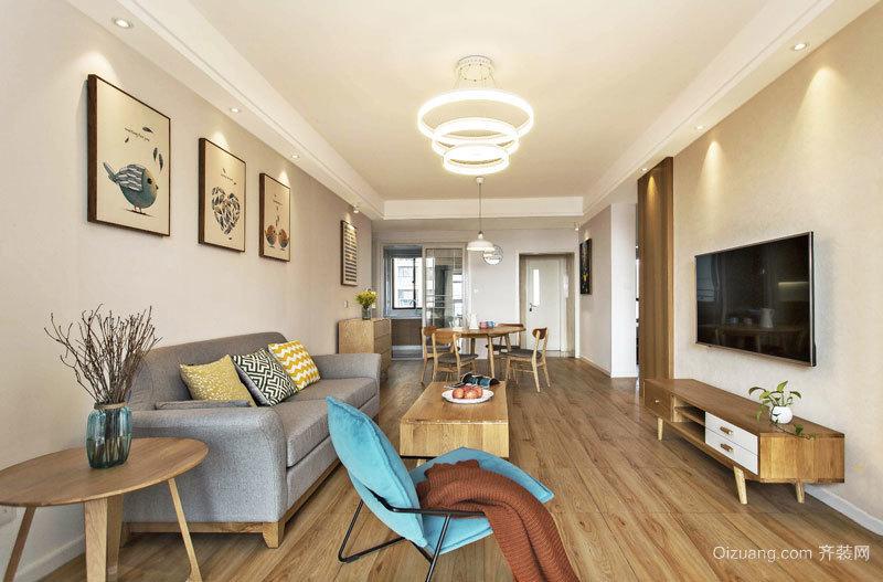 87平米宜家风格轻松三室两厅室内装修效果图案例