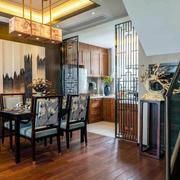 中式风格复式楼室内古色古香餐厅装修效果图