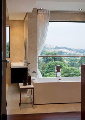中式风格别墅室内卫生间装修效果图