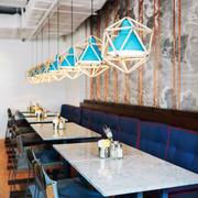 后现代风格时尚咖啡厅卡座装修效果图