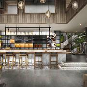 后现代风格精致咖啡厅吧台装修效果图