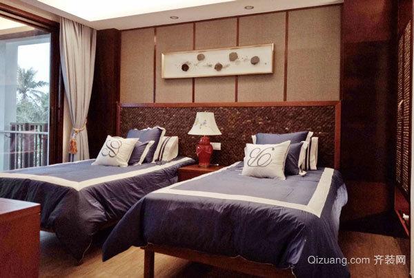 中式风格宾馆标准间装修效果图赏析